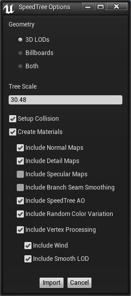 importing_models_into_ue4 [SpeedTree Documentation]